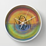 The Eternal Now Painting Background_clock mockup
