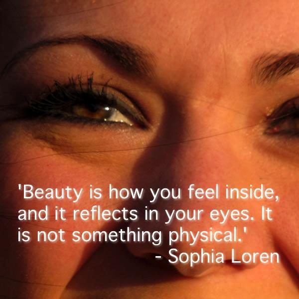 Happy Eyes Reflect Beauty