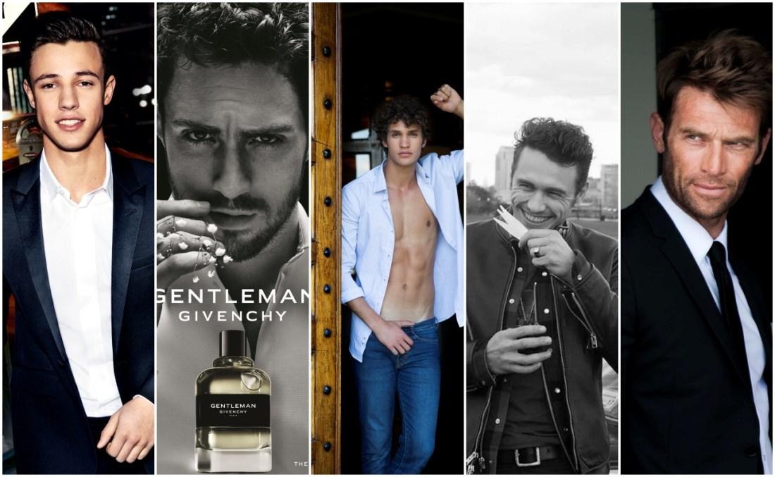 Красиви мъже, които са рекламни лица на парфюми.