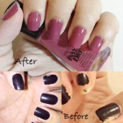 mani monday dark mauve nails