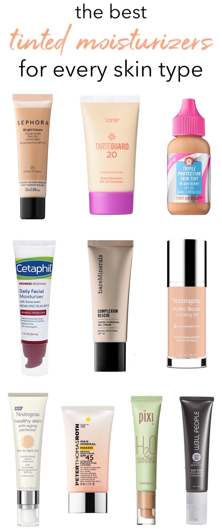 The Best Tinted Moisturizers For Every Skin Type ...