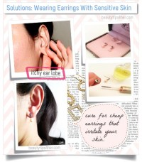 Solutions: Wearing Earrings With Sensitive Skin | DIY ...