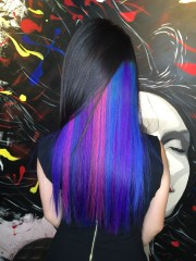 peek-boo vibrant hair colour