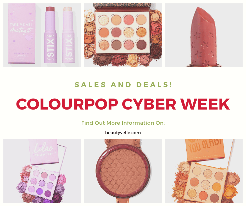 Hot New Colourpop Cyber Week Deals!