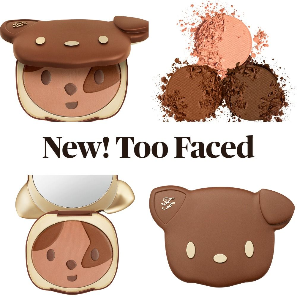 New! Too Faced Sun Puppy Bronze Limited Edition Clover Compact