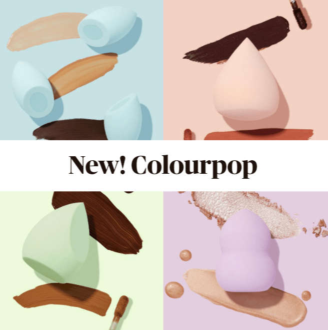 New! Colourpop The Full Beat Blending Sponge Kit