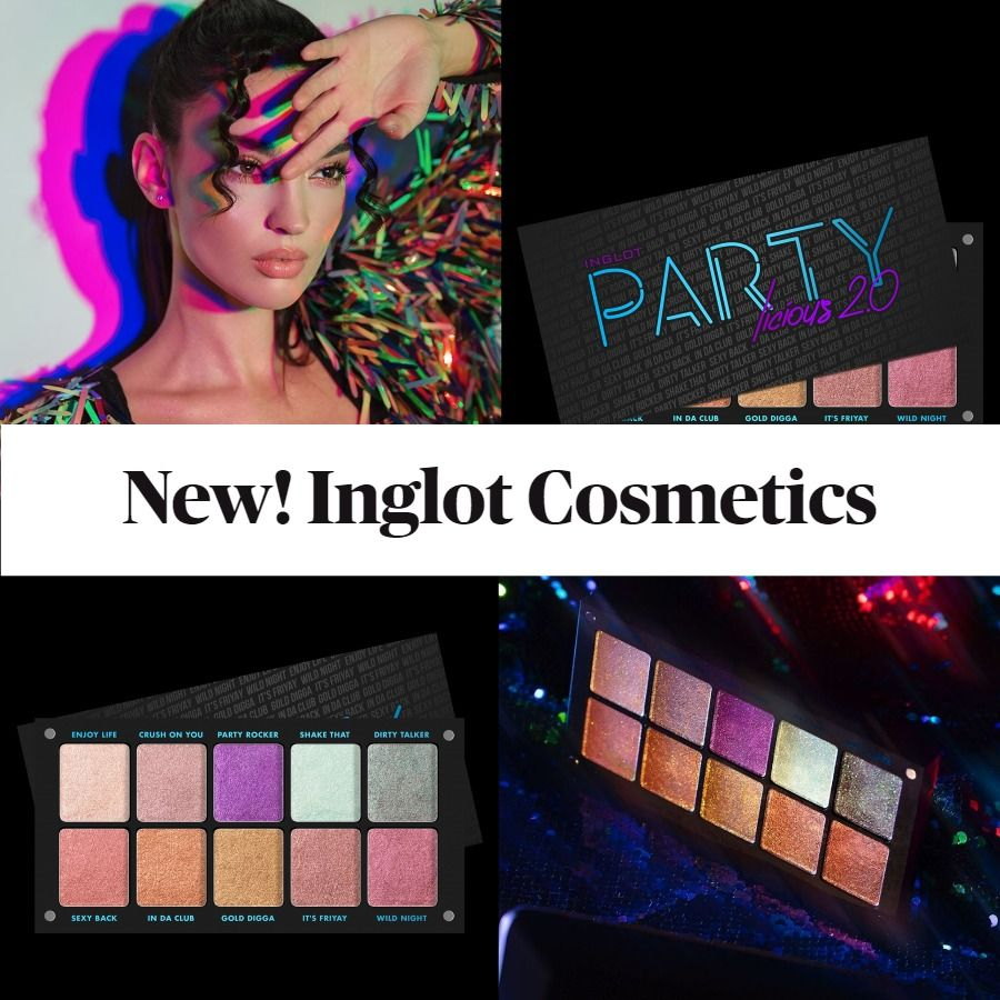 New! Inglot Cosmetics Freedom System Palette Partylicious 2.0