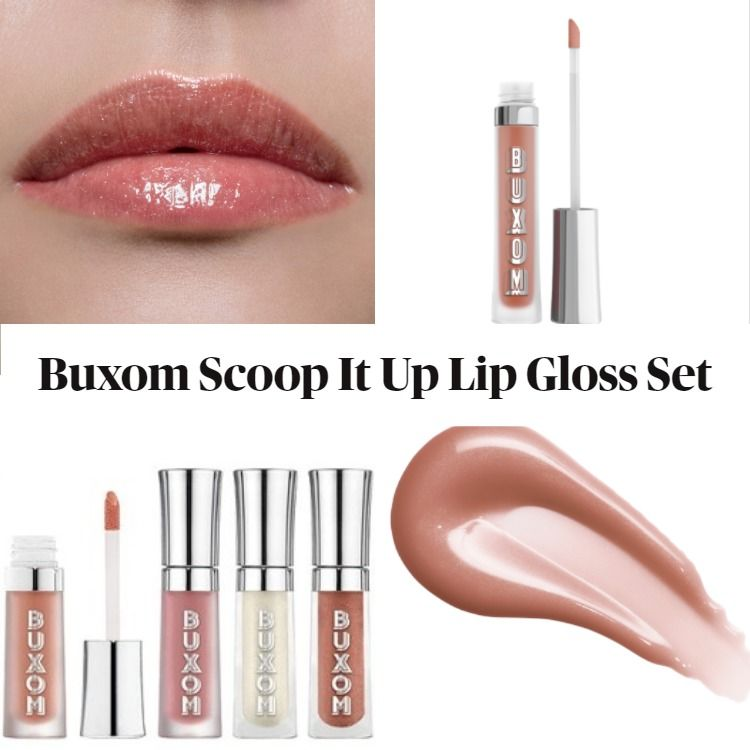 New! Buxom Scoop It Up Plumping Lip Gloss Set