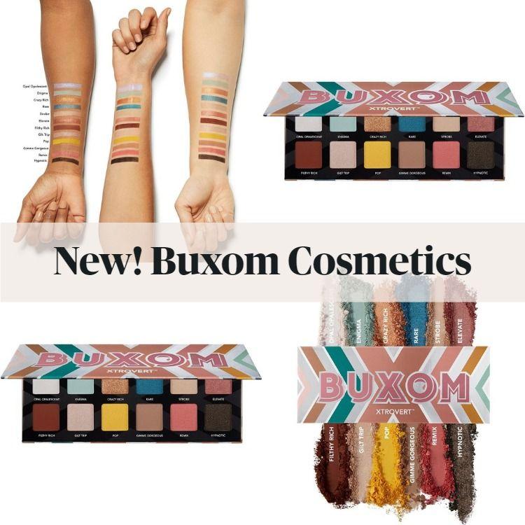 New! Buxom XTROVERT Eyeshadow Palette