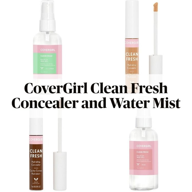 New! CoverGirl Clean Fresh Hydrating Concealer and Prep & Set Water Mist
