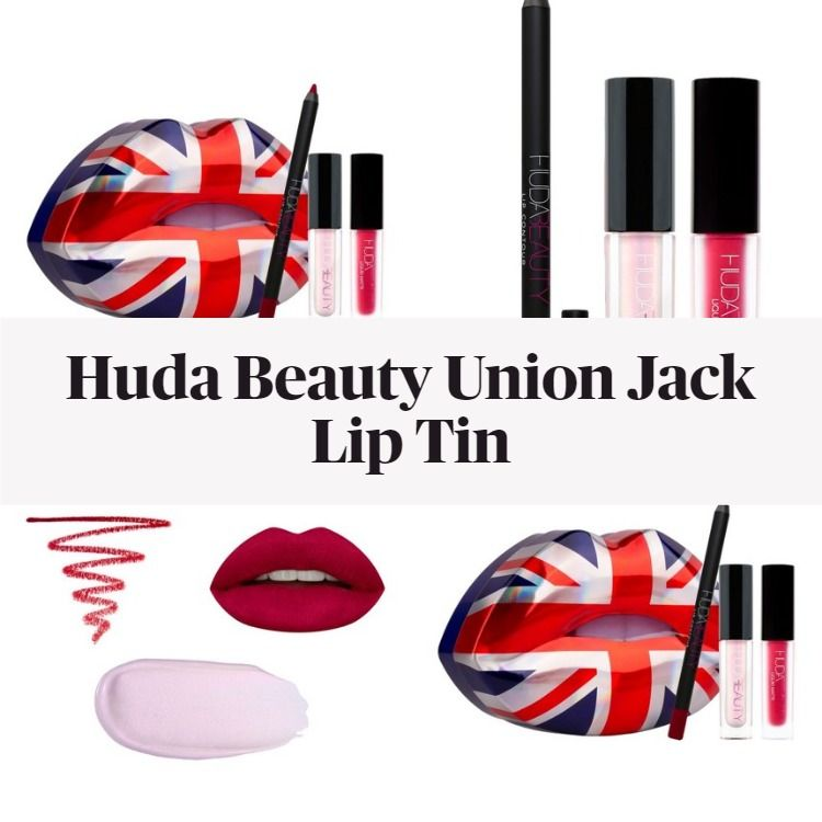 Get The Scoop On The New Limited Edition Huda Beauty Union Jack Lip Tin