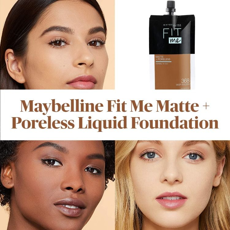 New! Maybelline Matte + Poreless Liquid Foundation, Face Makeup Pouch Format