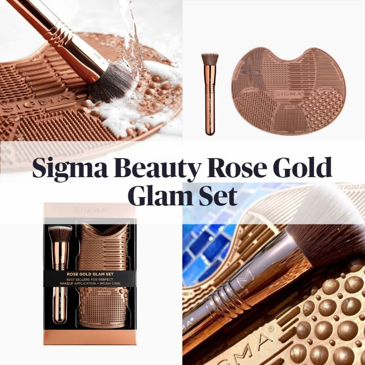 New! Sigma Beauty Rose Gold Glam Set
