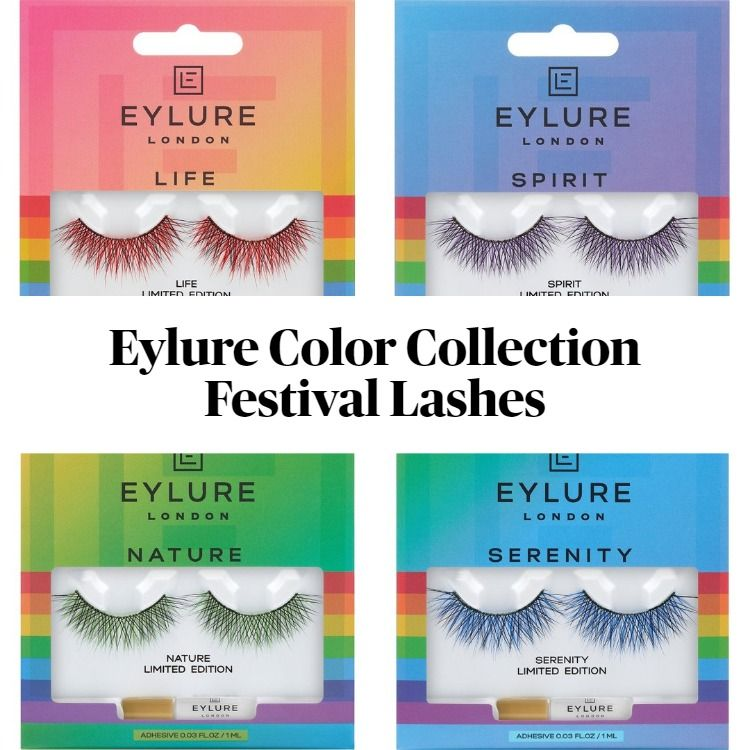 New! Eylure Color Collection Limited Edition Festival Lashes