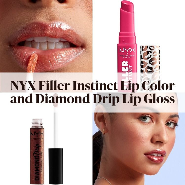 New! NYX Filler Instinct Plumping Lip Color and Diamond Drip Lip Gloss