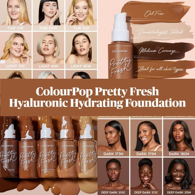 Sneak Peek! ColourPop Pretty Fresh Hyaluronic Hydrating Foundation