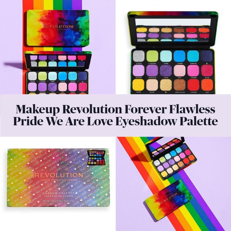 New! Makeup Revolution Forever Flawless Pride We Are Love Eyeshadow Palette