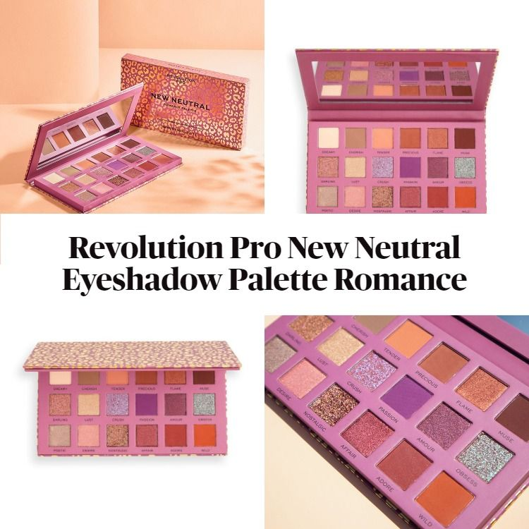 New! Revolution Pro New Neutral Eyeshadow Palette Romance