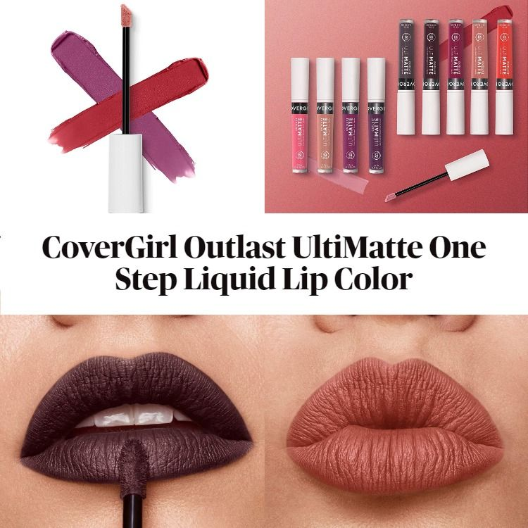 New! CoverGirl Outlast UltiMatte One Step Liquid Lip Color
