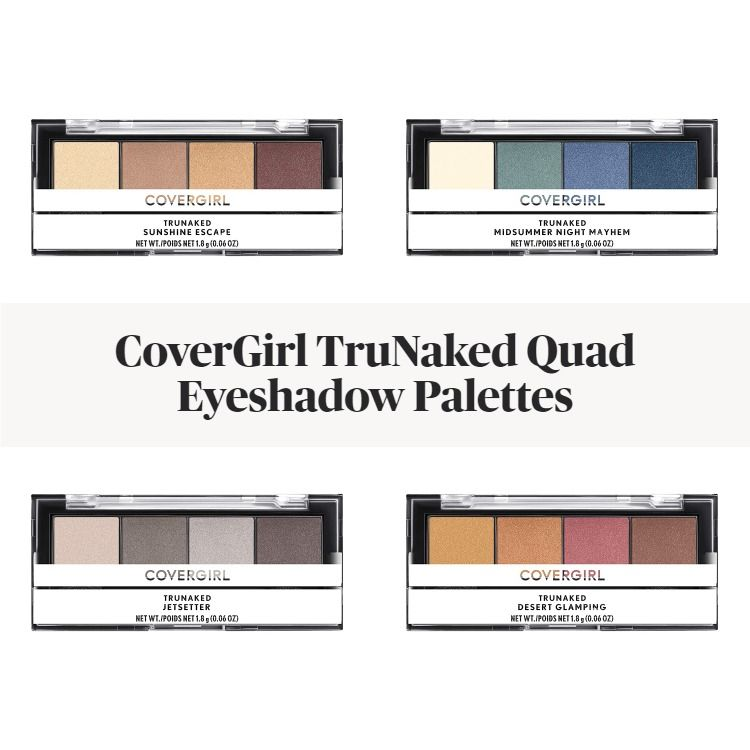 New! CoverGirl TruNaked Quad Eyeshadow Palettes