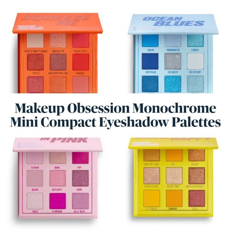 New! Makeup Obsession Monochrome Mini Compact Eyeshadow Palettes