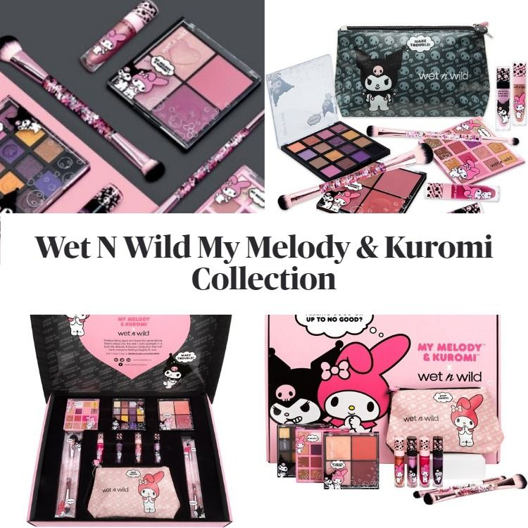 New! Wet N Wild My Melody & Kuromi Full Collection Box