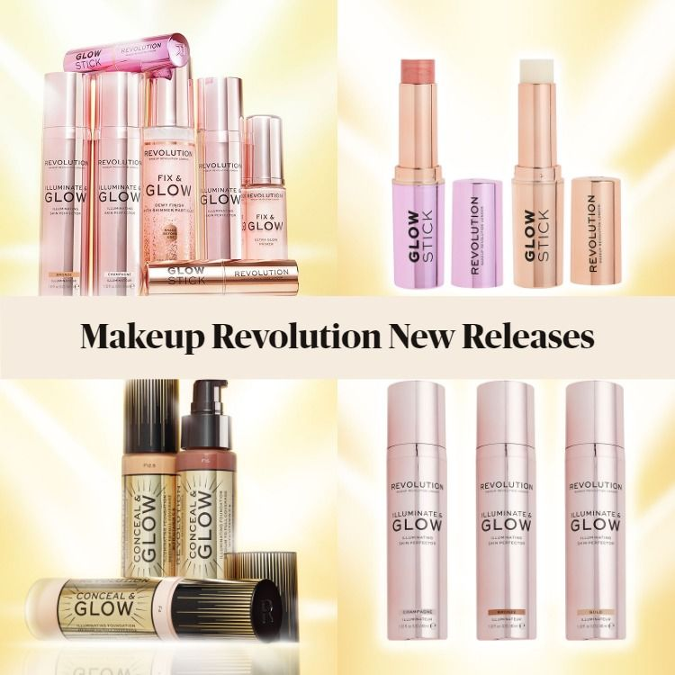 New Releases from Makeup Revolution!  Primers, Foundation, Highlighters, & Setting Spray