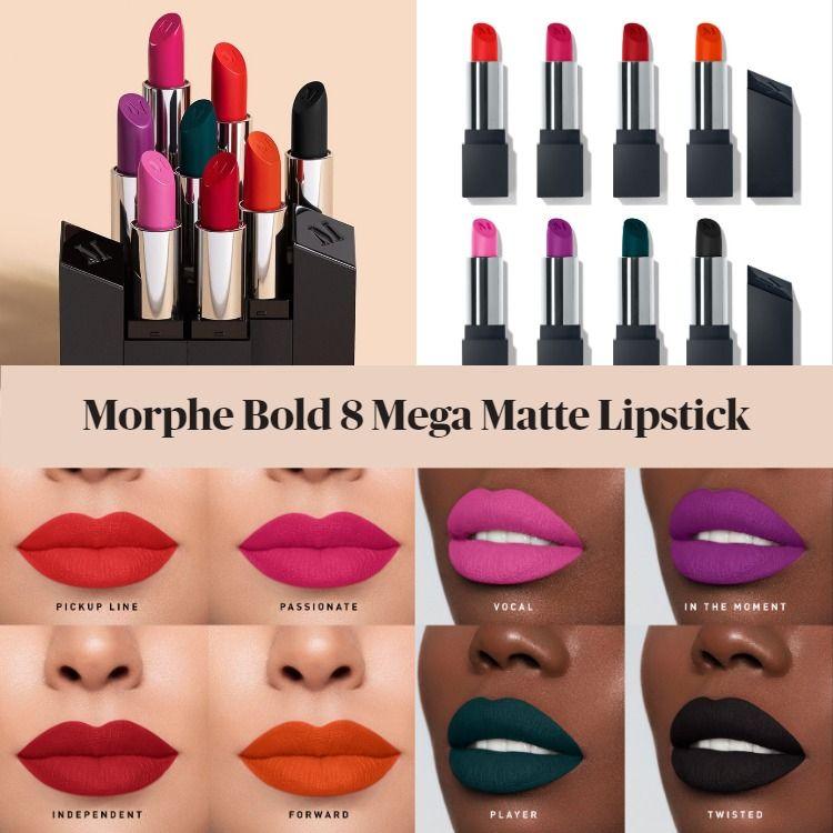 Morphe Bold 8 Mega Matte Lipstick Collection