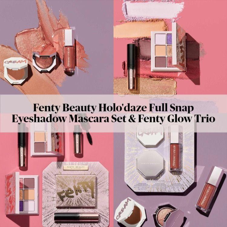 Sneak Peek! Fenty Beauty Holo'daze Full Snap Eyeshadow Mascara Set & Fenty Glow Trio