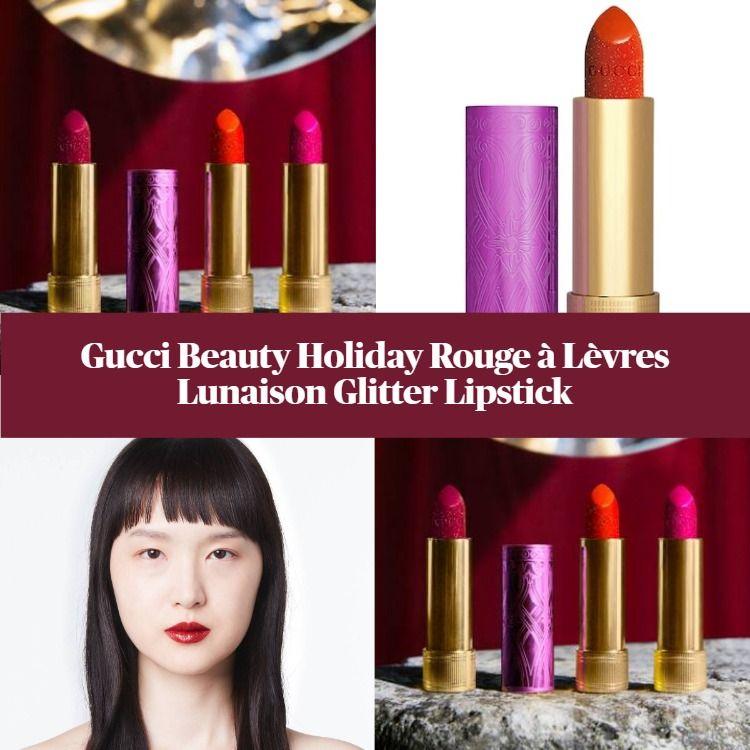 Gucci Beauty Holiday Rouge à Lèvres Lunaison Glitter Lipstick