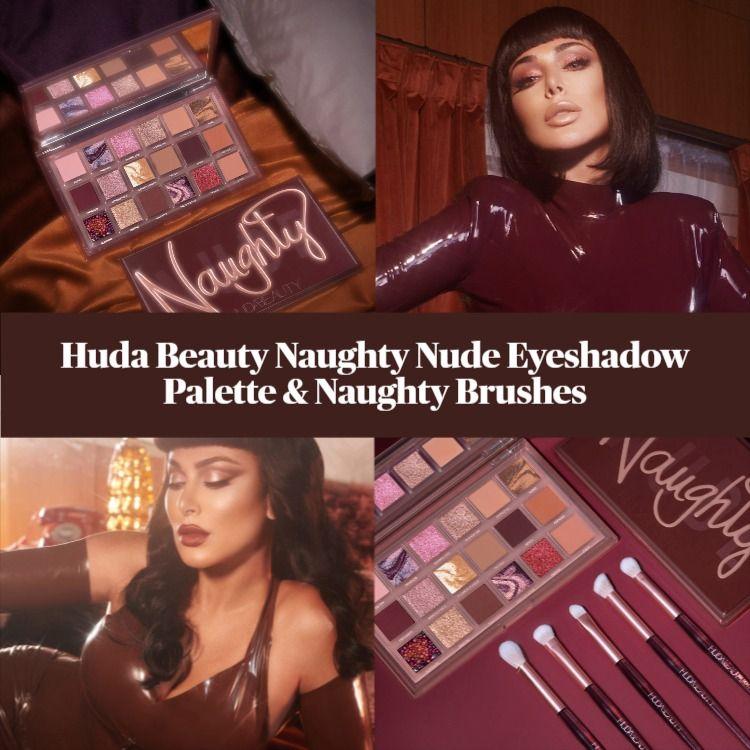 Sneak Peek! Huda Beauty Naughty Nude Eyeshadow Palette & Naughty Brushes