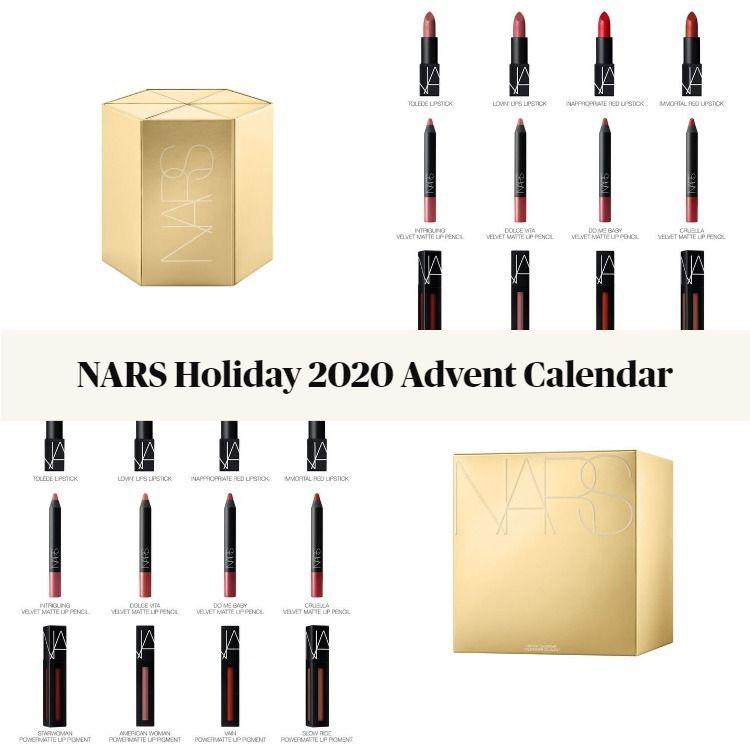 NARS Holiday 2020 Lip Makeup Advent Calendar