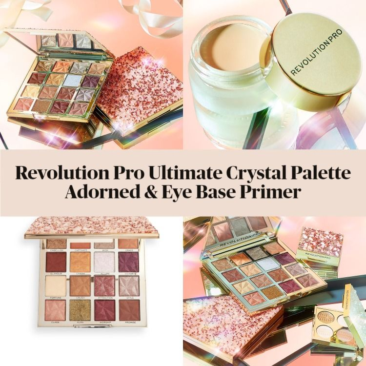 Revolution Pro Ultimate Crystal Eyeshadow Palette Adorned And Eye Base Primer