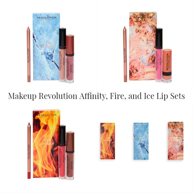 Makeup Revolution Affinity, Fire, and Ice Lip Sets