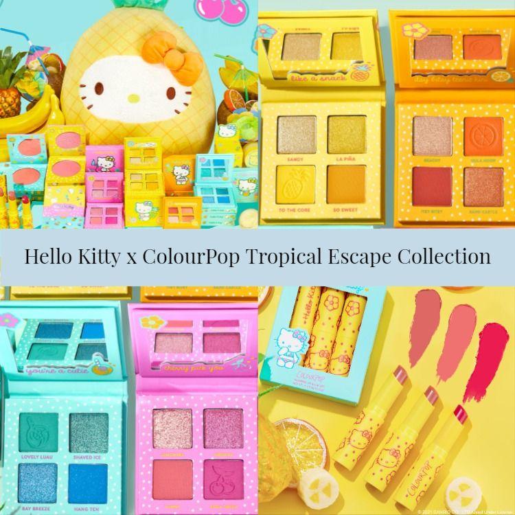 Sneak Peek! ColourPop x Hello Kitty Tropical Escape Collection