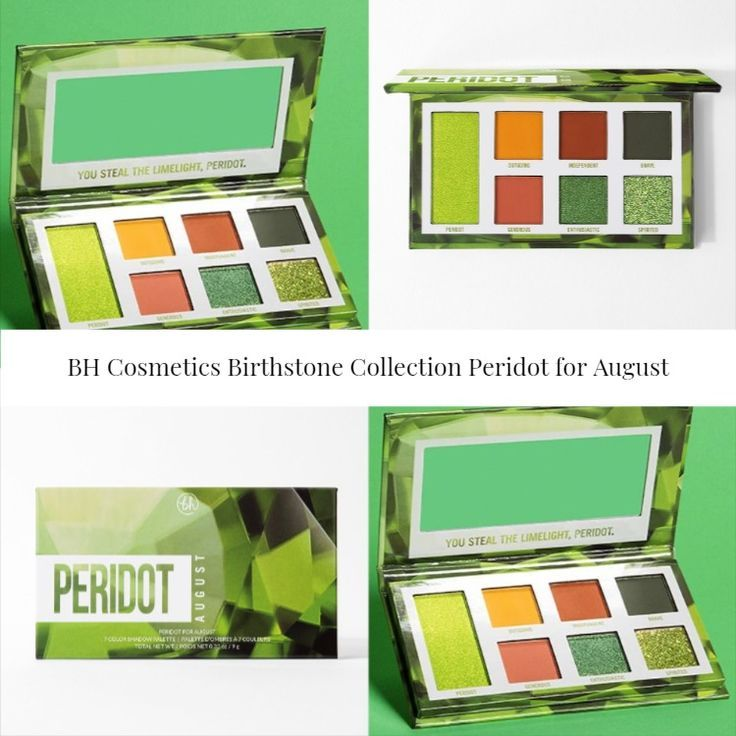 BH Cosmetics Birthstone Collection Peridot for August