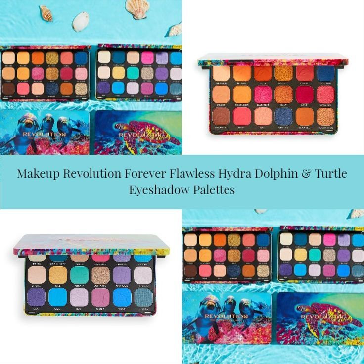 Makeup Revolution Forever Flawless Hydra Dolphin & Turtle Eyeshadow Palettes