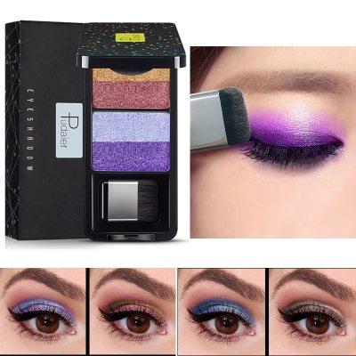 4 Colors Glitter Shimmer Eyeshadow Waterproof