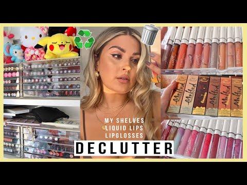 DECLUTTER! ♻️ expired lipsticks, lipglosses & liquid lips! 💕 MAKEUP ORGANISATION 2021