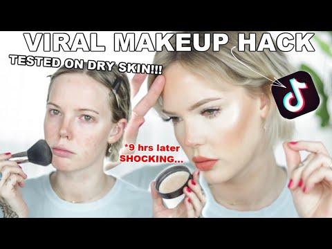 TIK TOK VIRAL MAKEUP HACK *tested on dry skin* DOES IT WORK? // ImMalloryBrooke
