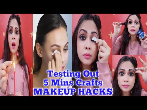 Testing Out Viral Makeup Hacks By 5 Minute Crafts | Viral Hacks