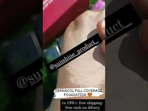 foundation || dermacol || paunchy coverage foundation || make-up #foundation #make-up #dermacol #50rsmak
