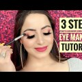 Systems to Be aware Eyeshadow in three Steps in HINDI | Easy behold makeup for newbies | Deepti Ghai Sharma