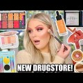 NEW DRUGSTORE MAKEUP TESTED | FULL FACE FIRST IMPRESSIONS KELLY STRACK
