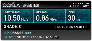 Speedtest Orange
