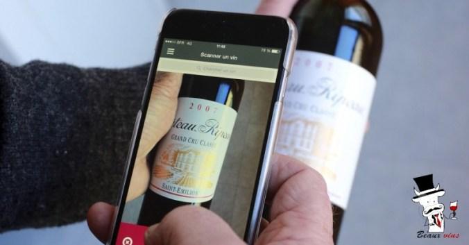 applications vin smartphone Beaux-Vins