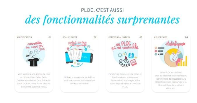 blog vin Beaux-Vins application applications 2019 smartphone oenologie Ploc fonctionnalités