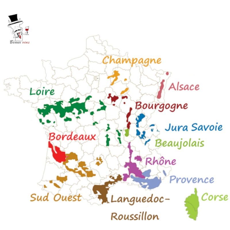 Carte de France des vignobles