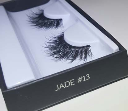 63503b92b14 I took advantage of Sephora due to their return policy, and ordered a set  of the Huda Beauty Faux Mink lashes in Jade #13.