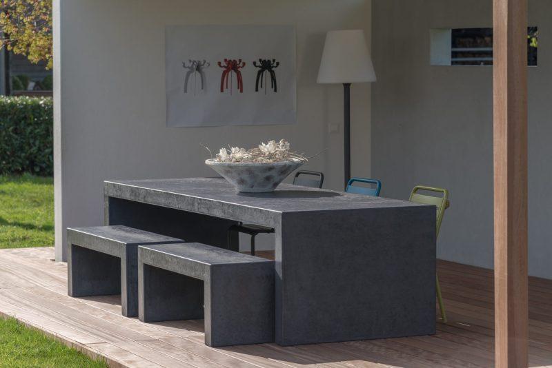 Betonlook tafel Booster - Zwart